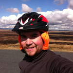 A friend knitted me these helmet ear-warmers