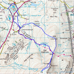 Route of walk on White Boar Fell
