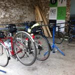 Bike racks at The Barn cafe