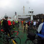 Riders on the Corran ferry