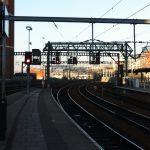 Train lines and platform