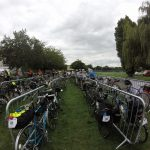 Bikes at the start of LEL