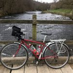 Bike at bridge over the River Wharfe