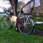 Bike and control at Markington