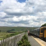 Train leaving Garsdale station